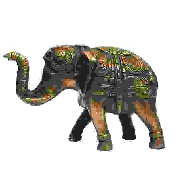 Antique Brass Feng Shui Elephant Figurine: asian  by M4design,Asian