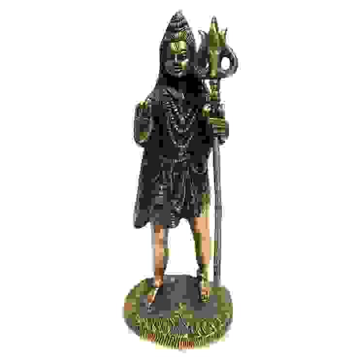 Indian Hindu God Shiva Antique Brass Sculpture: asian  by M4design,Asian