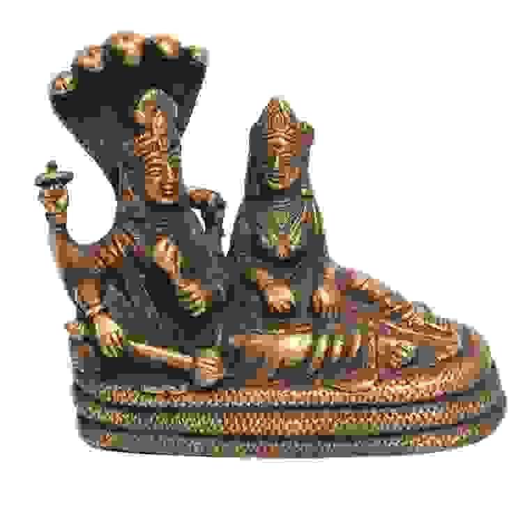 Lord Laxmi Narain Brass Statue -Indian Hindu God: asian  by M4design,Asian