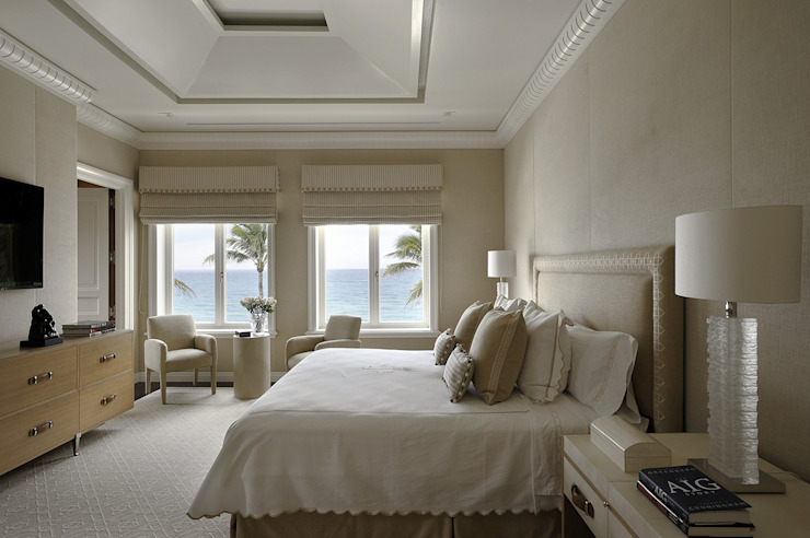 Residenza privata - Palm Beach, Florida - Master bedroom di Ti Effe Esse Interiors Moderno