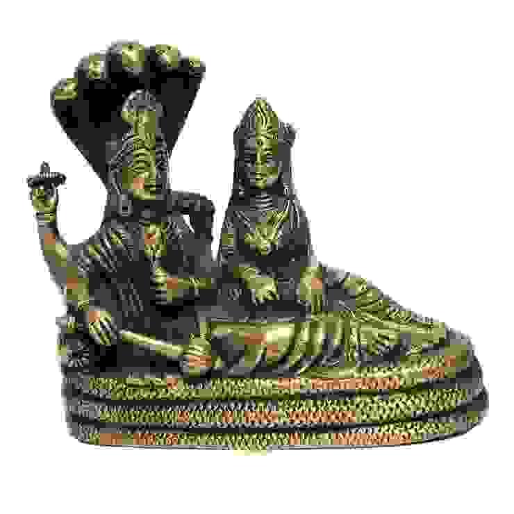 Hindu Religious Antique Brass Laxmi Narayan Idols: asian  by M4design,Asian