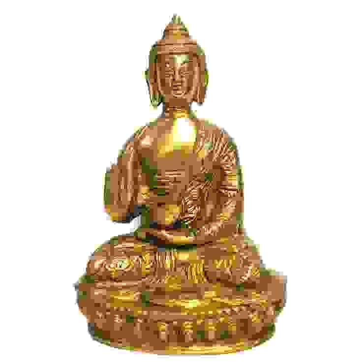 Green Brass Buddha Sculpture: asian  by M4design,Asian