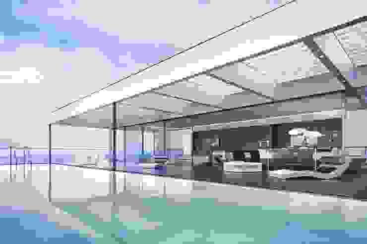 Luxus Apartment New York Moderne Wohnzimmer von archlab.de Modern