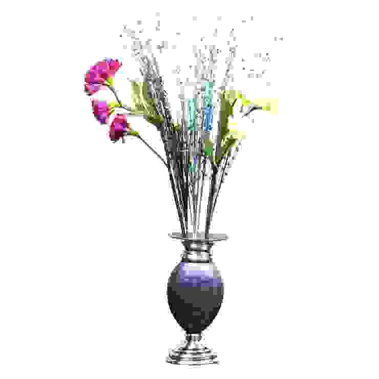 Blue Enameled Flower Vase: asian  by M4design,Asian