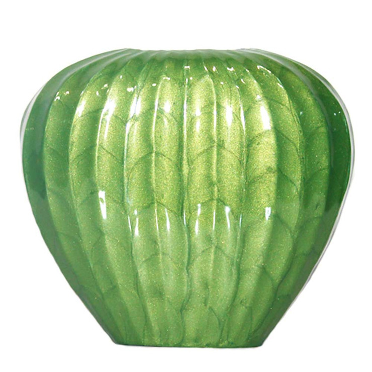Green Enameled Watermelon Vase: asian  by M4design,Asian