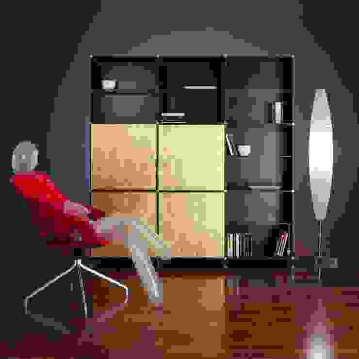 Libreria Fitting Foglia Oro Edizione Limitata di Piarotto.com - Mobilie snc Moderno