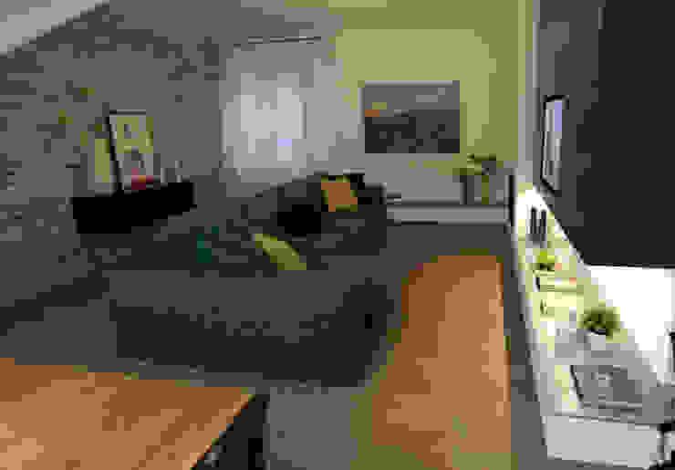 Colore e calore: riqualificazione di una villa Cantina moderna di marco olivo Moderno