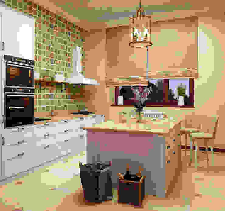 Дом в клубном посёлке: Кухни в . Автор – Студия дизайна 'New Art',