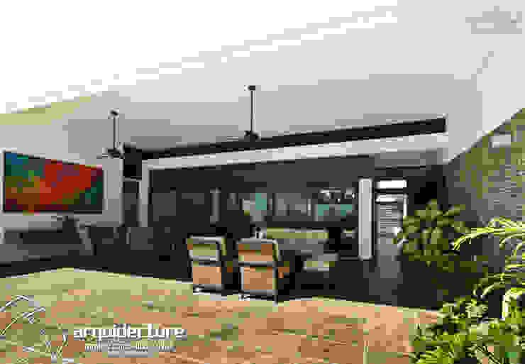 CASA ALTABRISA 24: Terrazas de estilo  por Grupo Arquidecture,