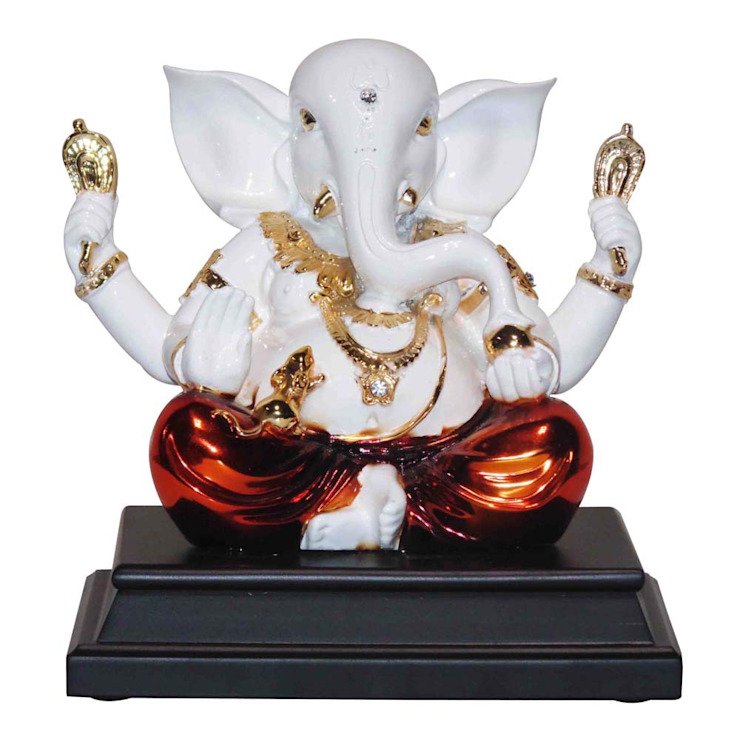 Lord Ganesh Good Luck Statue: asian  by M4design,Asian