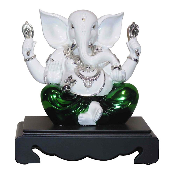 Blessing Ganesha Statue: asian  by M4design,Asian