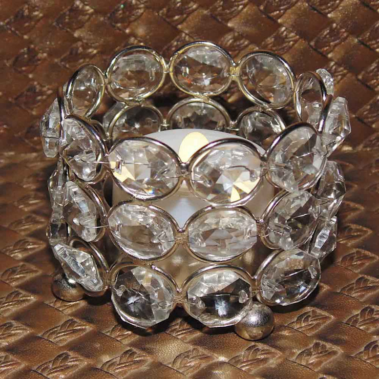 Oval Crystal Tealight Holders/ Seasonal Gifts: asian  by M4design,Asian