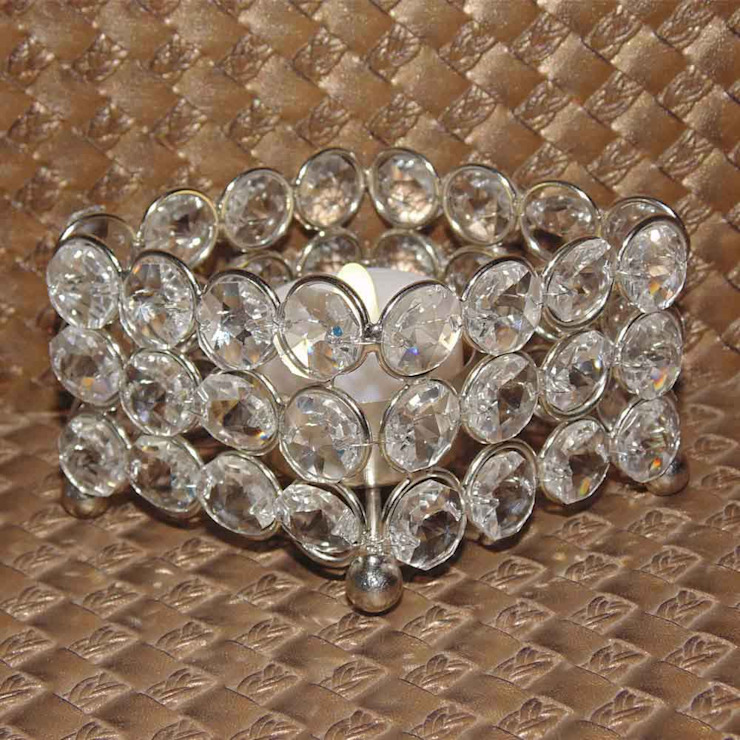 Crystal Diamond Tealight Holders/ Gifts & Decor: asian  by M4design,Asian