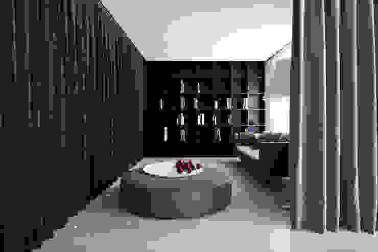 A HOUSE Salones de estilo minimalista de Vaíllo & Irigaray Minimalista