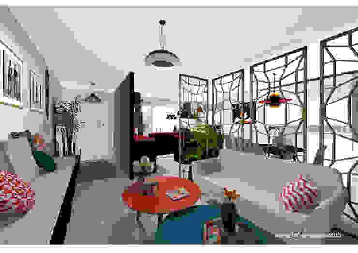 Livings de estilo moderno de Sonia HADDON Interior Designer Moderno