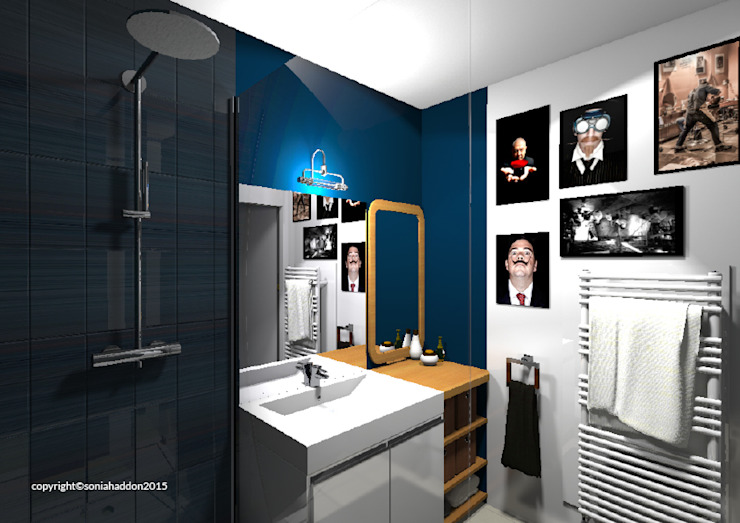 Baños modernos de Sonia HADDON Interior Designer Moderno