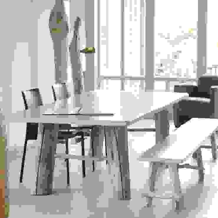 Table et banc MULTIFONCTION par FAIRSENS Moderne