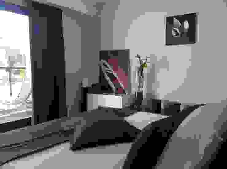 Aménagement & Décoration d'une chambre moderne Chambre moderne par Myriam Galibert Amenagement Moderne