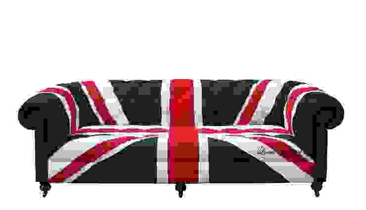 Union Jack Chesterfield Sofa par Locus Habitat Moderne