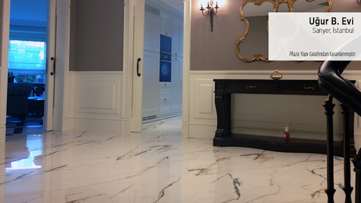 Classic style corridor, hallway and stairs by Plaza Yapı Malzemeleri Classic