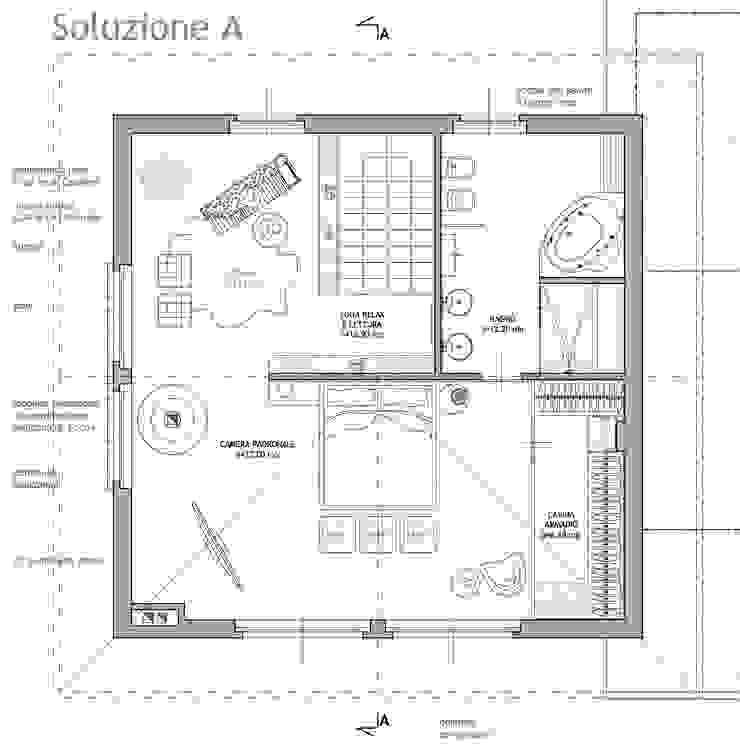 Recupero sottotetto e studio di interni in provincia di Lecco di Studio Architetto Alessio