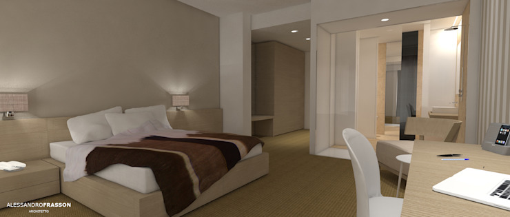 HILTON STANDARD BEDROOM CONCEPT Hotel moderni di Studio Frasson Moderno