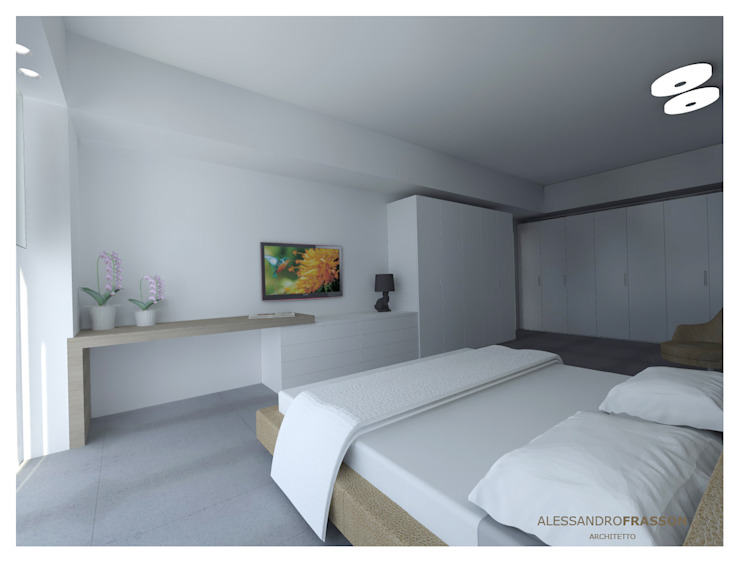VILLA FR1 – Night Camera da letto moderna di Studio Frasson Moderno