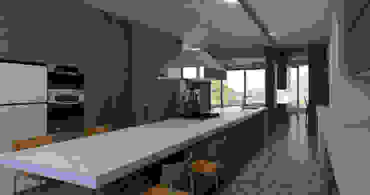 Render Cocina Cocinas modernas de ArquitectosERRE Moderno