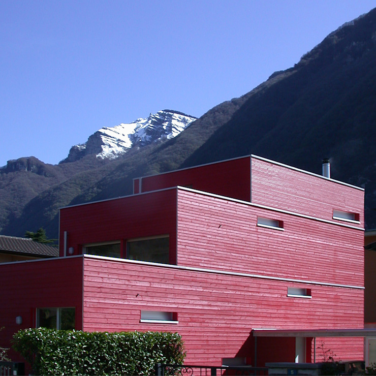 casa Bertolazzi Case moderne di Cattaneo Brindelli architetti associati Moderno