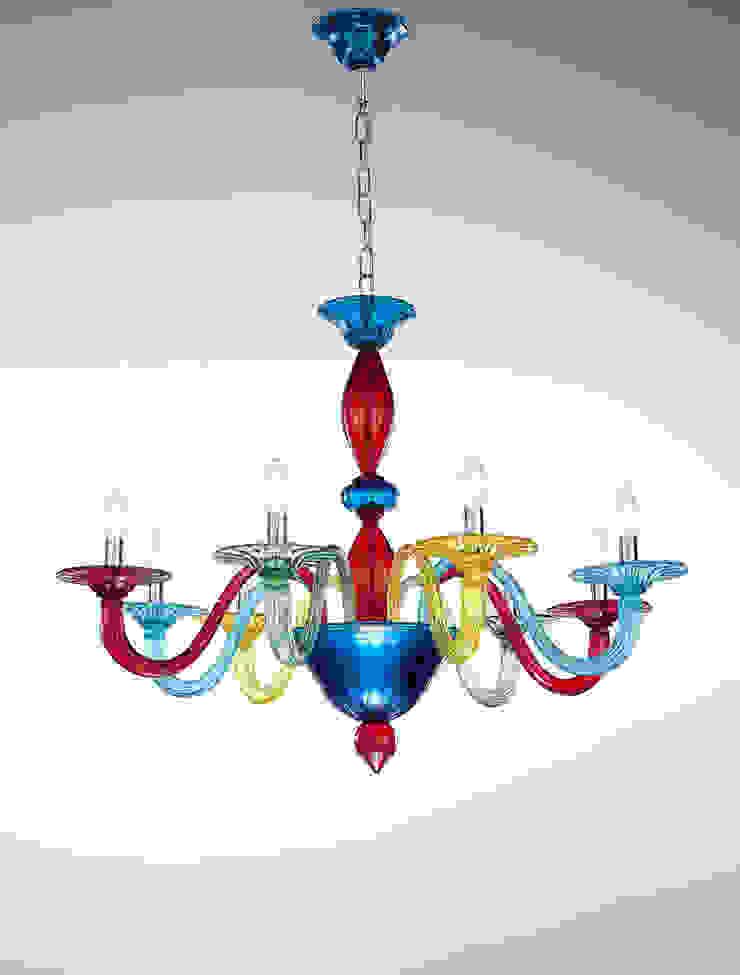 Murano Coloured Glass Chandelier Vetrilamp Vetrilamp ArteObjetos artísticos