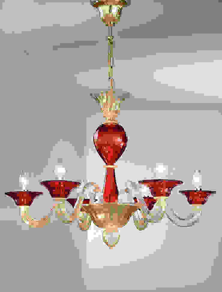 Murano glass Chandelier Vetrilamp งานศิลปะแต่งบ้านงานศิลปะอื่นๆ