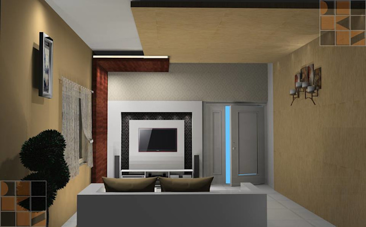 Proposed Residential Interiors for Mr. Vinoth, Mayiladuthurai, : modern  by Quadrantz Consultants,Modern