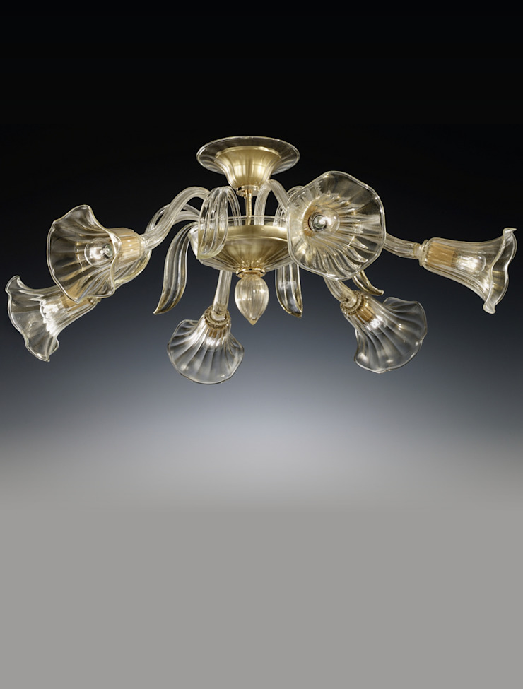 Gold Glass Ceiling Light Vetrilamp ArtworkOther artistic objects