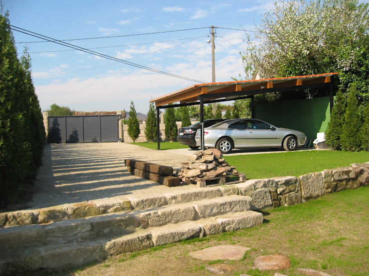 Casas de estilo  por MUIÑOS + CARBALLO arquitectos,