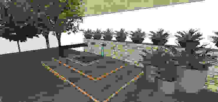 Modern garden by Arq. Claudia Gonzalez Modern