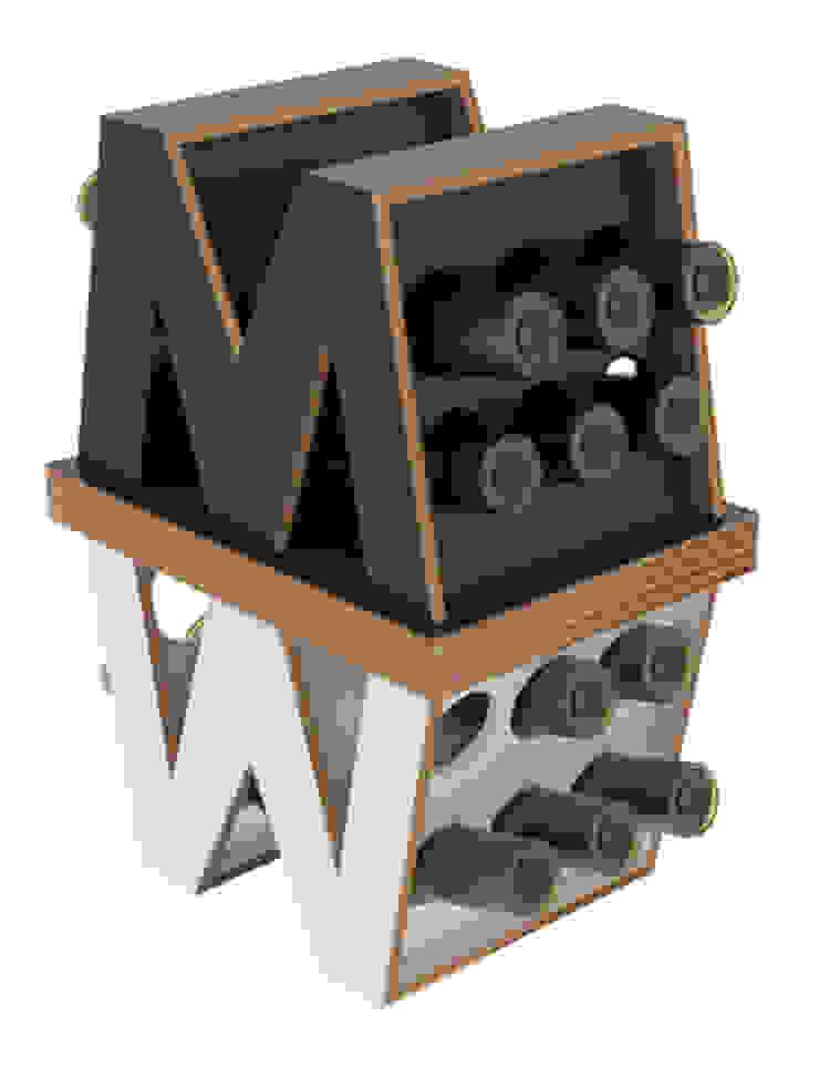 MY WINE:  in stile industriale di viviana degrandi, Industrial