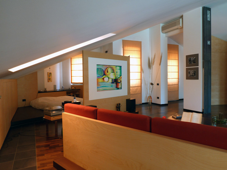 Conversione di un sottotetto non abitabile in mansarda di Michele Valtorta Architettura