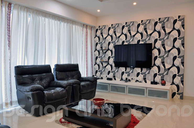 Media unit Modern houses by Design and beyond Modern