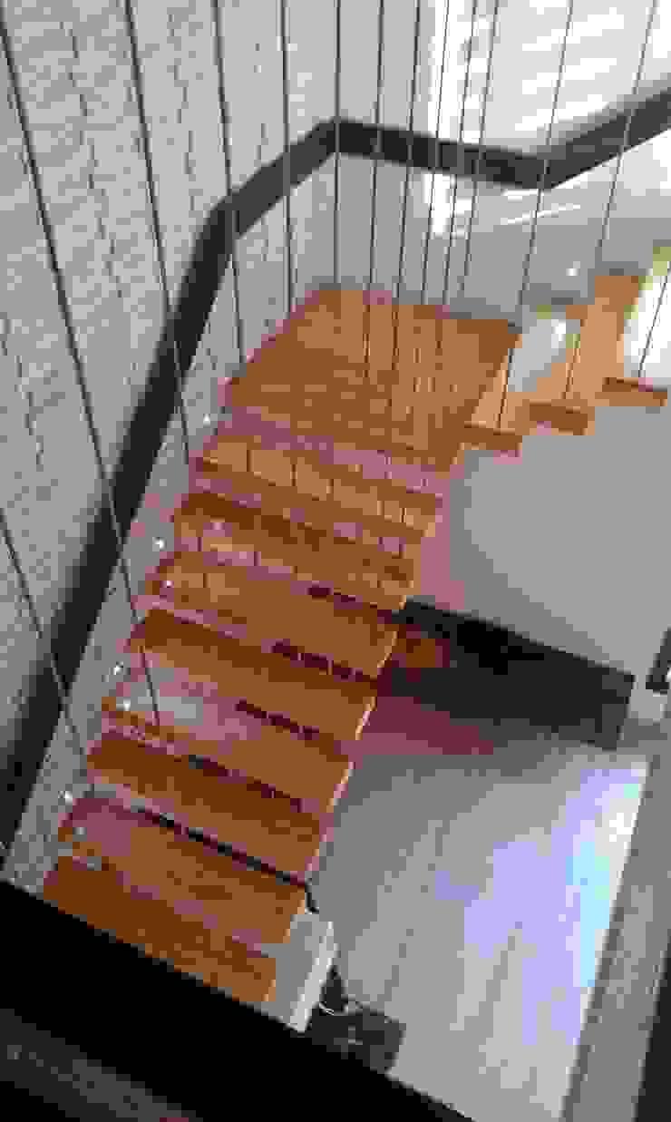 Residence M-35 Modern corridor, hallway & stairs by ArchiDes Modern