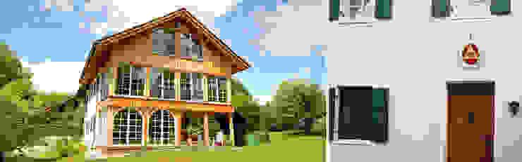 Gartenansicht und Blick auf den Eingang von Planungsbüro Schilling Landhaus