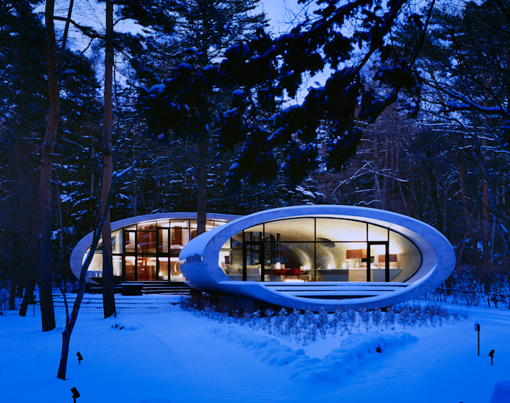 SHELL 現代房屋設計點子、靈感 & 圖片 根據 ARTechnic architects / アールテクニック 現代風
