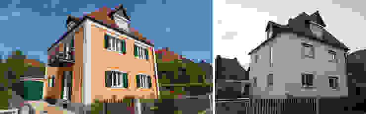 Ansicht von Südosten vor und nach Sanierung von Planungsbüro Schilling Klassisch