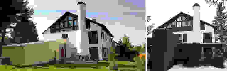 Gartenansicht vor und nach Sanierung Moderne Häuser von Planungsbüro Schilling Modern