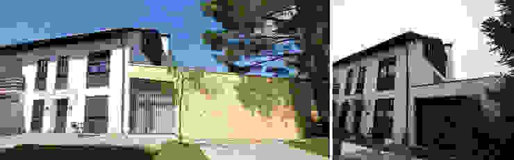 Ostfassade vor und nach Sanierung Moderne Häuser von Planungsbüro Schilling Modern
