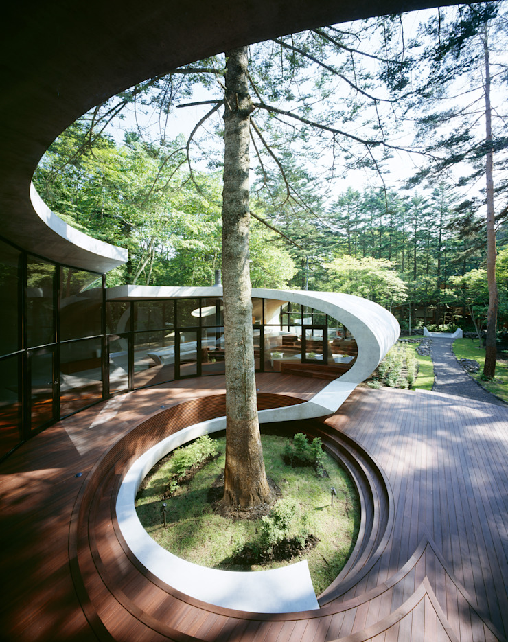 SHELL Moderner Balkon, Veranda & Terrasse von ARTechnic architects / アールテクニック Modern