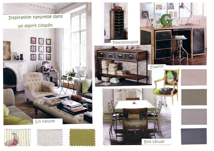 Projet Appartement Haussmannien Salon moderne par APPART-DECOHOME Moderne