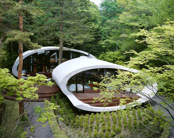 SHELL Casas modernas: Ideas, imágenes y decoración de ARTechnic architects / アールテクニック Moderno