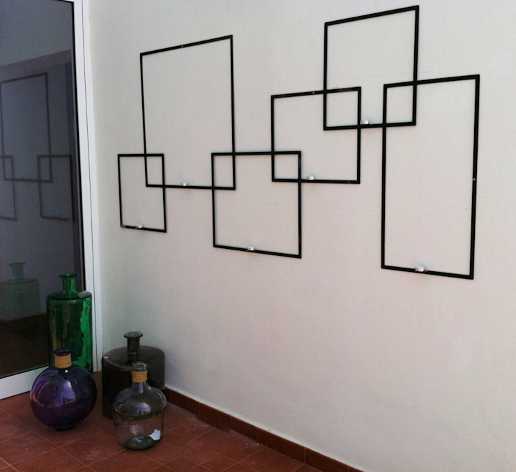 EScultura portavelas de exterior realizada a medida. Casas de estilo clásico de Tatiana Doria, Diseño de interiores Clásico