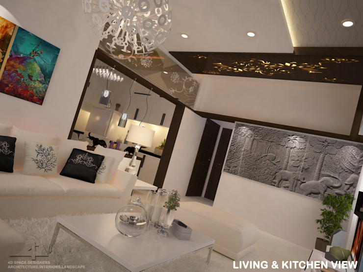 Residence Interior Modern houses by 4D Space Designers Modern