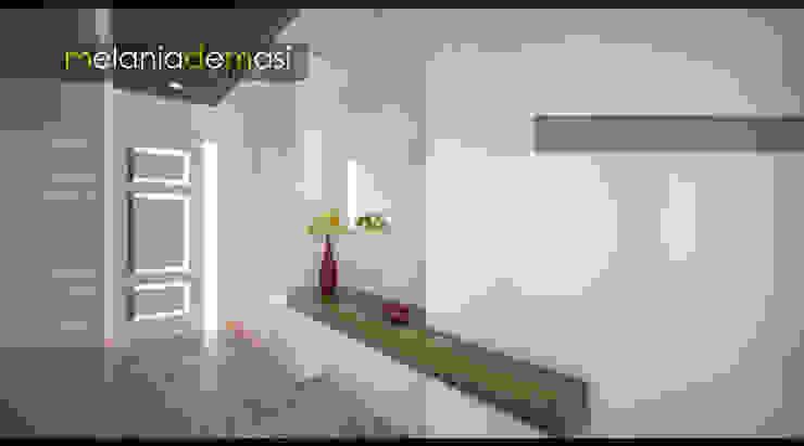 Casa Napoletana Ingresso, Corridoio & Scale di melania de masi architetto